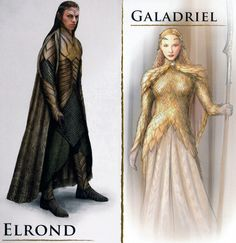 elrond and galadriel concept art