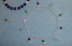 Turquoise, lapis and chrysocolla anklet from The Jasper Tree