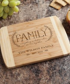 'Family' Personalized Bamboo Cutting Board