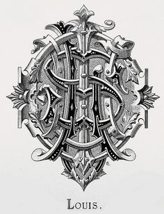 "Monogram ""Louis"" by Charles Demengeot - 1877 