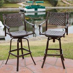 shop allen roth set of 4 safford swivel sling cast aluminum patio