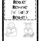 Reader Response Graphic Organizers for Emergent and Early Readers plus strategy/skill posters