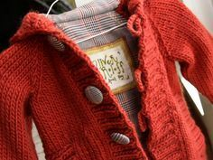 knit toddler hoodie. Brief instructions on how to do the lining.  *Free pattern
