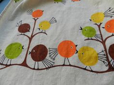 Vintage & Cute...I have this pattern in a pillow cover.