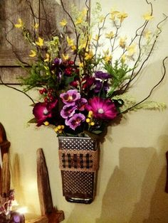 cheese grater flower arrangement