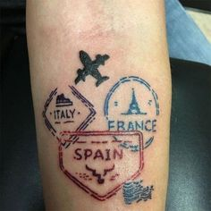 28 Trendy Travel Tattoo Ideas Wanderlust Planes - You are in the right place about 28 Trendy Travel Tattoo Ideas Wanderlust Planes Tattoo Design And - Tattoo Fonts, I Tattoo, Cool Tattoos, Tattoo Quotes, Gun Tattoos, Tattoo Pain, White Tattoos, Ankle Tattoos, Arrow Tattoos