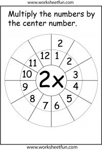 Times Table Worksheets – 1, 2, 3, 4, 5, 6, 7, 8, 9, 10, 11, 12, 13, 14, 15, 16, 17, 18, 19 and 20 – Twenty Four Worksheets