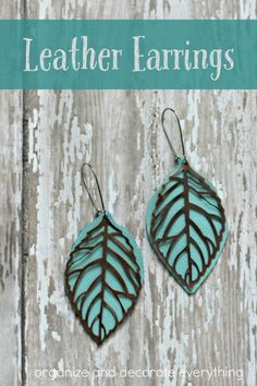 Metal and Leather Earrings: More