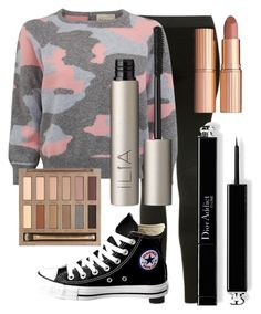 """Untitled #199"" by aryasally ❤ liked on Polyvore featuring Topshop, Converse, Ilia, Urban Decay and Charlotte Tilbury"