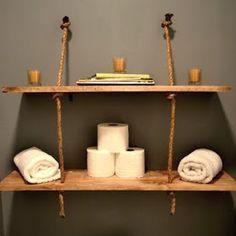 rope shelf in bathroom
