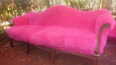 Pink faux fur couch! Home decor lessons I learned from Burning Man | Offbeat Home