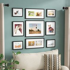 Most-Adored Moments 9 Piece Wood Picture Frame Set Collage Picture Frames, Picture Frame Sets, Wall Collage, Photo On Wood, Picture On Wood, Photo Wall, Picture Walls, Picture Ledge, Black Picture