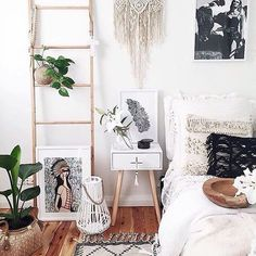 Loving the boho vibe in this room by @homesbycaz feat. the 'Angeni' print now available on our online store⠀ ➿➿➿⠀ We did a quick {Q + A} with @nataliebrineyartist to find out more about th