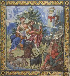 The baffled king (David composing the Psalms). Paris Psalter, Byzantium ca. 940-960. BnF, Grec 139, fol. 1v
