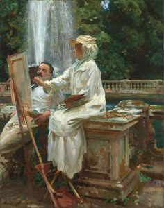 John Singer Sargent American, 1856-1925, The Fountain, Villa Torlonia, Frascati, Italy