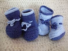 Chaussons bleu marines et bleu source raffines