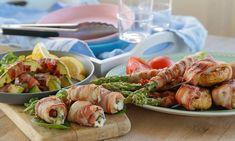 Disse tapasrettene er alle baconsurret og enkle å lage. Prøv baconsurrede dadler, avokado, sopp og asparges, og du tar aldri mer noe annet til tapasen!