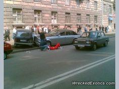 Rolls-Royce Phantom crashed in Saint Petersburg, Russia
