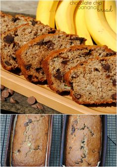 Chocolate Chip Banana Bread Recipe. Great option for a sweet #breakfast, #afterschool snack, or DIY #holiday gift.