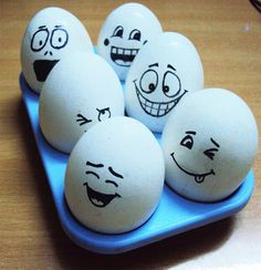 Funny Easter Egg Faces
