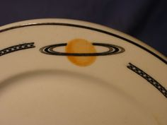 Vintage Syracuse OPCO Odd Salem With Saturn Top Mark Pattern Dinner Plate
