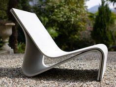 SPONECK Cement garden armchair by SWISSPEARL Italia