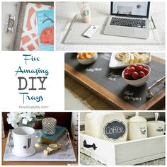 Friday Fab Five - Five Amazing DIY Trays | How Lovely It Is