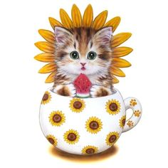 New DIY Diamond Painting Cup Cats Full Square Diamond Embroidery Handmade Art Decoration Cross stitch Painting Wholesale Baby Animals, Cute Animals, Cute Cups, Diamond Art, 5d Diamond Painting, Handmade Art, Cat Art, Cross Stitch Embroidery, Drawings