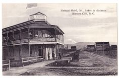 BC – MISSION CITY, Matsqui Hotel with Mt. Baker c.1900s PPC Indian Postcard, Vintage Tiki, Fraser Valley, Lost Images, Historical Photos, British Columbia, Vancouver, Canada, History