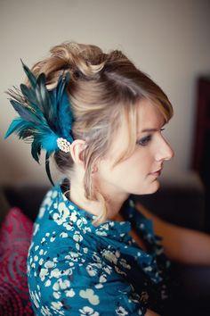 Navy Blue Fascinator chapeau pour mariage//ascot//Proms avec bandeau M2