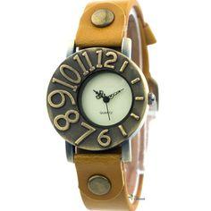 Vintage leather watch by mycoolgiftshop on Etsy