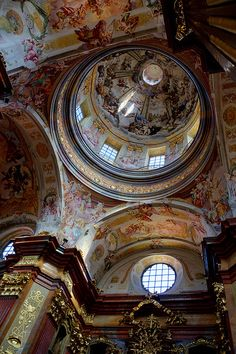 The dome of the church at the Abbey of Melk, Austria - 17th century