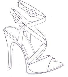 Fashion Illustration Sketches, Fashion Design Sketches, Sketch Design, African Prom Dresses, Shoe Sketches, Flower Shoes, Glitter Art, Fashion Portfolio, Drawing Clothes