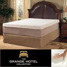 Grande Hotel Collection Posture Support 8-inch Queen-size Memory Foam Mattress. This is made of luxurious, smooth, circular knit jacquard polyester. Improve circulation, and reduce pressure points that can disrupt sleep