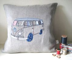 VW Camper pillow - Embroidery and Applique