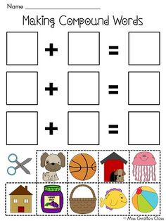 Compound Words hands on practice for visual and little learners!