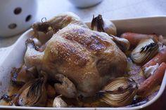 Kunsten at stege en kylling. Med opskrift