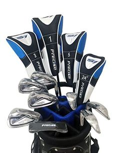 Best Golf Bags | S7 Mens Limited Edition Blue Complete Full Golf Club Set Right Hand  Driver 3  5 Wood Hybrid  5 thru PW Irons Sand Wedge Putter Deluxe Stand Bag and 4 Matching Head Covers >>> Check out this great product. Note:It is Affiliate Link to Amazon.