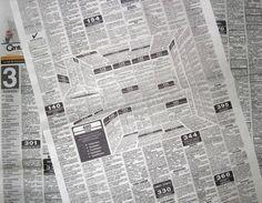 Anuncio de cocinas escondido en una pagina de periódico. Brillante!!!! #Printbroker #imprenta #advertising