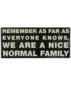 """""""Nice Normal Family"""" Rustic Wall Decor Box Sign"""