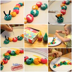 Toddler Approved!: Fizzing Caterpillar Science {Bug Week}