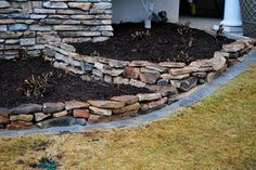 Dry Rock Stackers for flower beds
