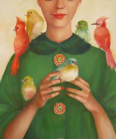 Ladybirds by Janet Hill - art print from King