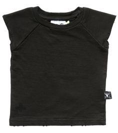 Nununu 80's Cut-off Sweatshirt in Black