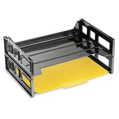 Officemate Recycled Plastic Side Load Letter Tray OIC26172, Black (UPC:042491261720)