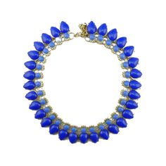 Beaded statement necklace,blue statement necklace,blue choker,beaded bubble necklace,bib necklace, neon fashion jewelry 2014,bijoux collier on Etsy, $19.99