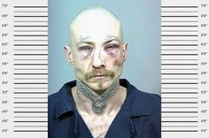 Collection of weird and bizarre mugshots. Collection of weird and bizarre mugshots. Funny Mugshots, Tattoos Gone Wrong, Tattoo Fails, Gangsters, Stupid People, Mug Shots, Underworld, Dumb And Dumber, Shit Happens