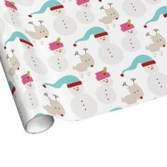 Christmas snowman and friends gift Wrapping Paper