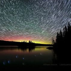 Northern Lights, Isle Royale National Park in Lake Superior, via Lake Superior Photo