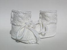 Babyschuhe gestrickt Herbst Winter von ellyshop auf DaWanda.com